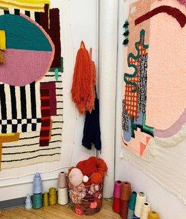 Caroline Kaufman's work at Textile Arts Center.