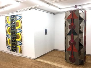 """Julia Bland's """"Underbelly"""" exhibit at Helena Anrather."""