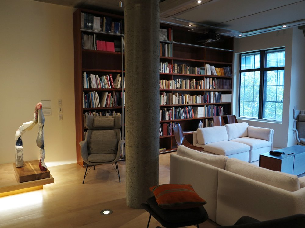 Francis Mill penthouse library