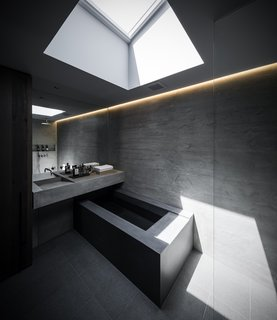 Skylights allow light to move across dark spaces throughout the day.