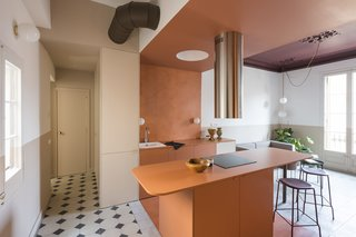 A Fire-Ravaged Apartment in Barcelona Rises Again With Bold Color and Historic Charm
