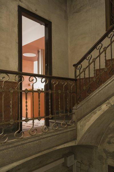 Details of the Art Nouveau building.