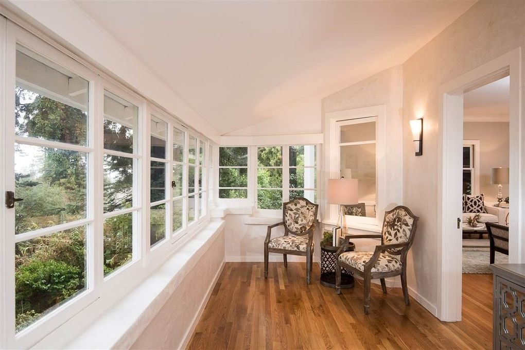 The sunroom before, though airy, took a more spartan approach to decor.  Photo 1 of 13 in My House: An Interior Designer Nods to the English Countryside in Her Berkeley Home