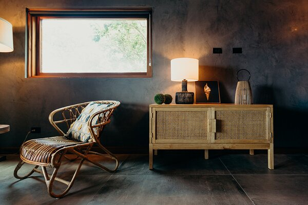 The interiors are swathed in organic hues to allow the natural environment to shine.