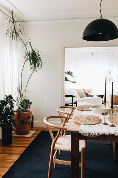 """Sequoia sets her space as she does her table—in cream and black tones to allow people, aromas, and sounds """"become the color."""""""