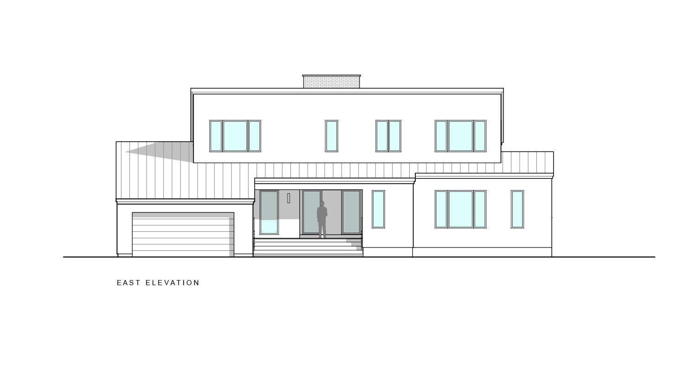 East elevation  Khabensky Residence by Richard Pedranti Architect