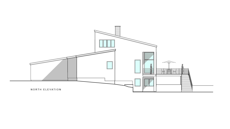 North elevation  Khabensky Residence by Richard Pedranti Architect