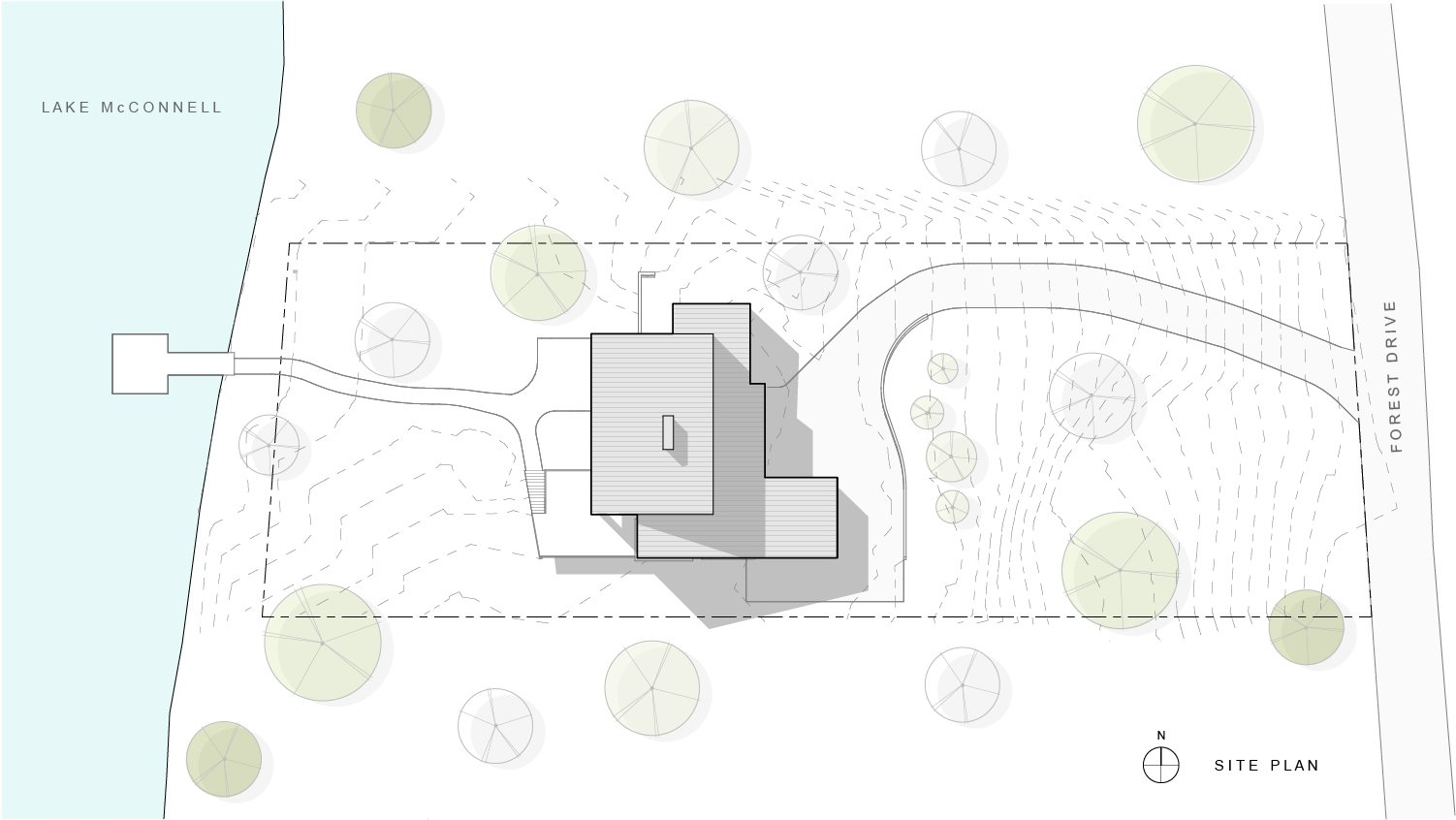 Site plan  Khabensky Residence by Richard Pedranti Architect