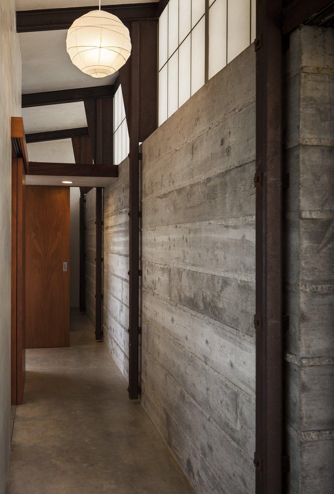Hallway and Concrete Floor Bedroom Hallway  Crossing Wall House