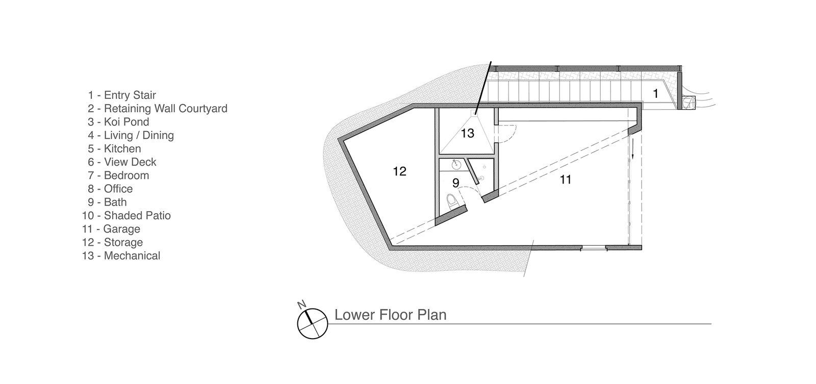 Lower Floor Plan  Crossing Wall House