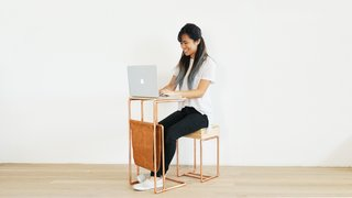 Dwell Made Presents: DIY Mini Copper Desk With Leather Sling