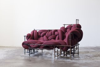 The Lawless sofa, designed by Evan Fay.