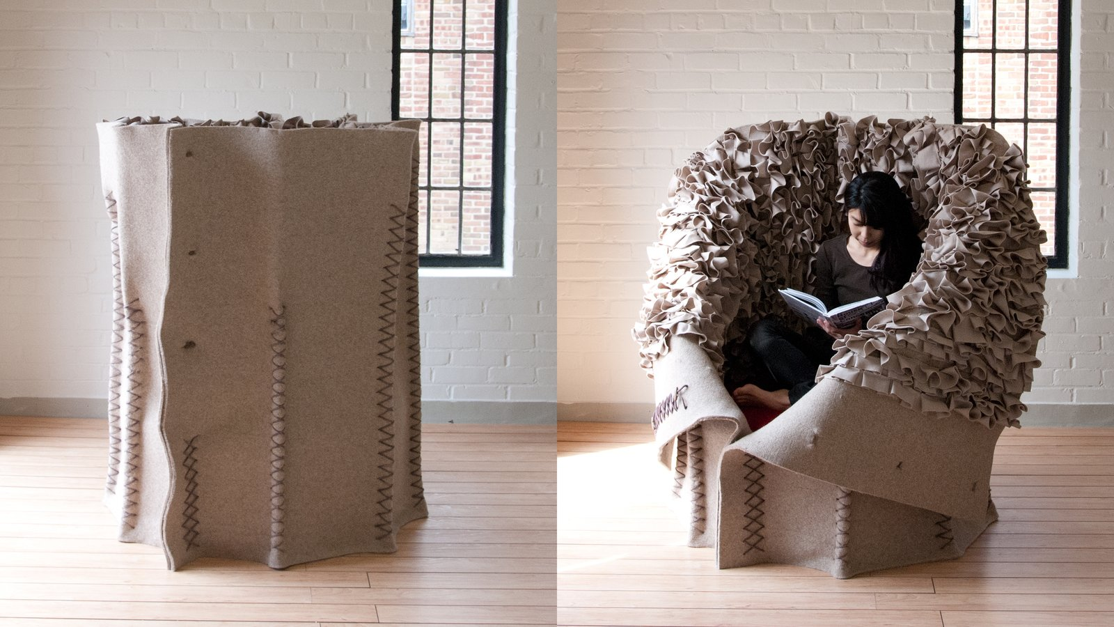Living Room Button Up Chair.  Photo 5 of 5 in Dwell 24: Ayako Aratani and Evan Fay