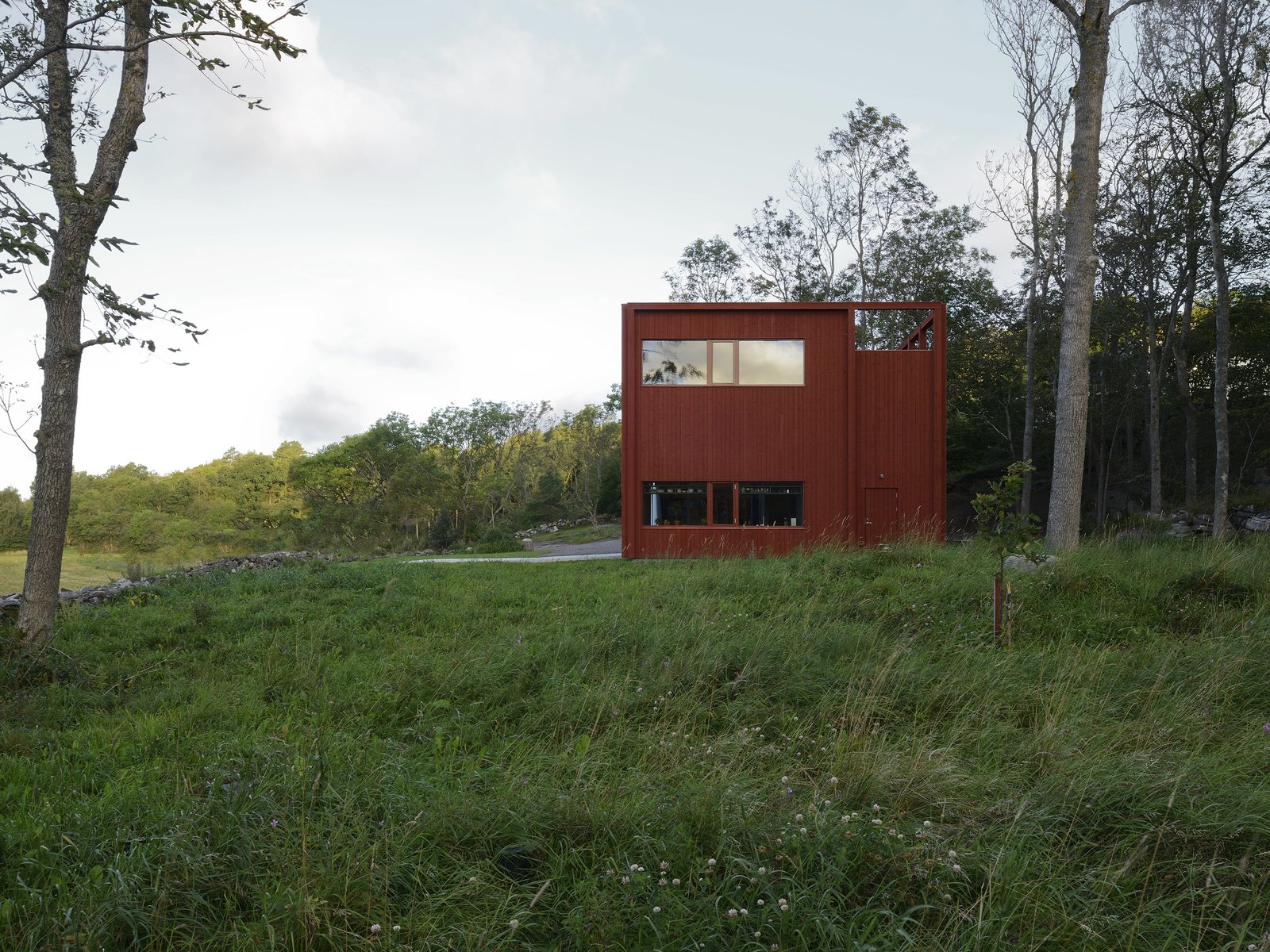Exterior, House Building Type, and Wood Siding Material Southeast.  Späckhuggaren by Bornstein Lyckefors arkitekter