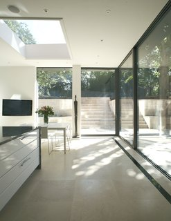 Indside, outside glass doors