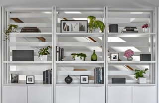 Kitchen Shelving + Stair
