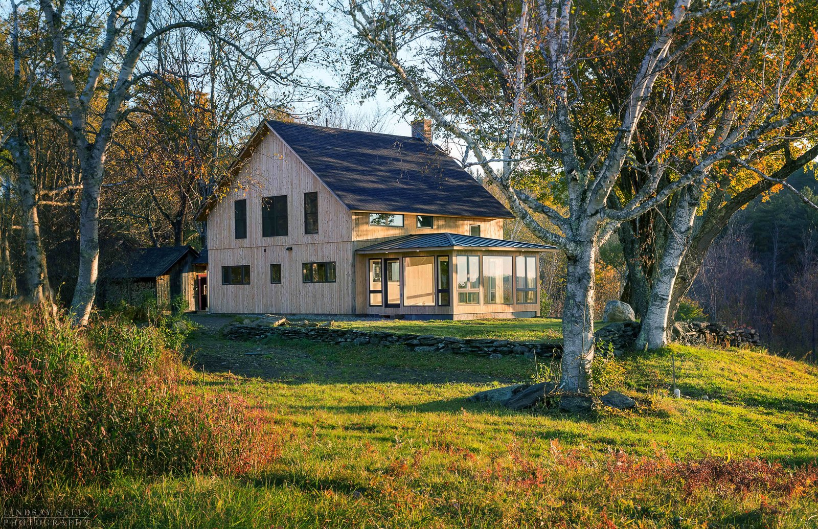 Exterior, Wood Siding Material, Shingles Roof Material, Gable RoofLine, and House Building Type New exterior  Photo 1 of 6 in Top 5 Converted Barns and Farmhouses That Celebrate Their Rural Roots from Vermont Barn to High Performance Home