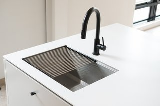 TopZero sinks and drying racks come with each Hygge Supply kitchen island.