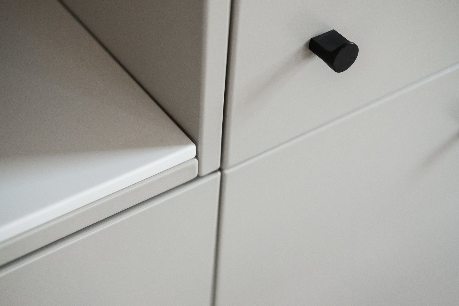 Storage Room and Cabinet Storage Type Detail shot of kitchen cabinetry with open shelving.  North Shore #7 by Hygge Supply