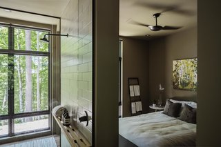 Master bathroom and master bedroom.