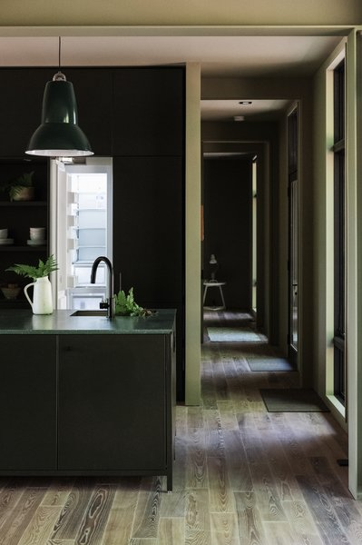 Kitchen and hallway view.