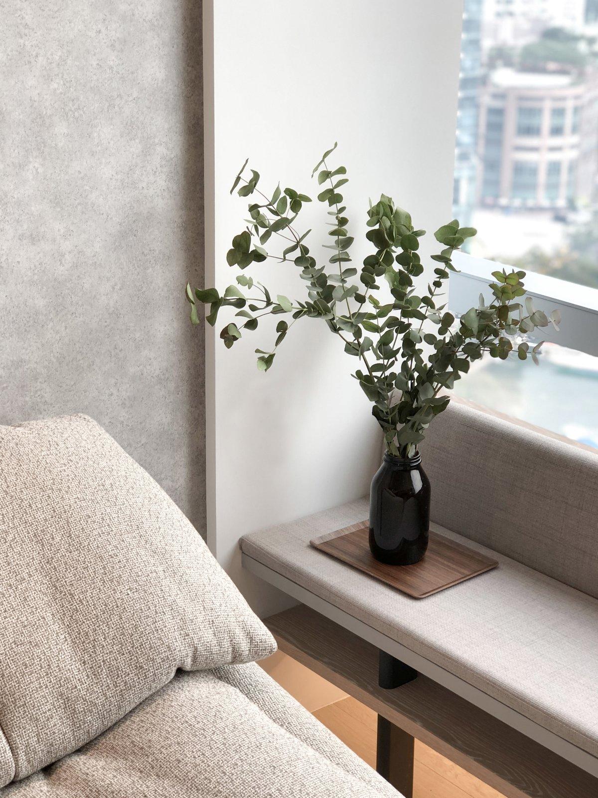 The cozy sofa.   #studioadjective @studioadjective #apartment #home #Sofa   Studio Adjective Ltd.  www.adj.com.hk Instagram : @studioadjective  Larvotto Studio Adjective HONG KONG by Studio Adjective Ltd. HK