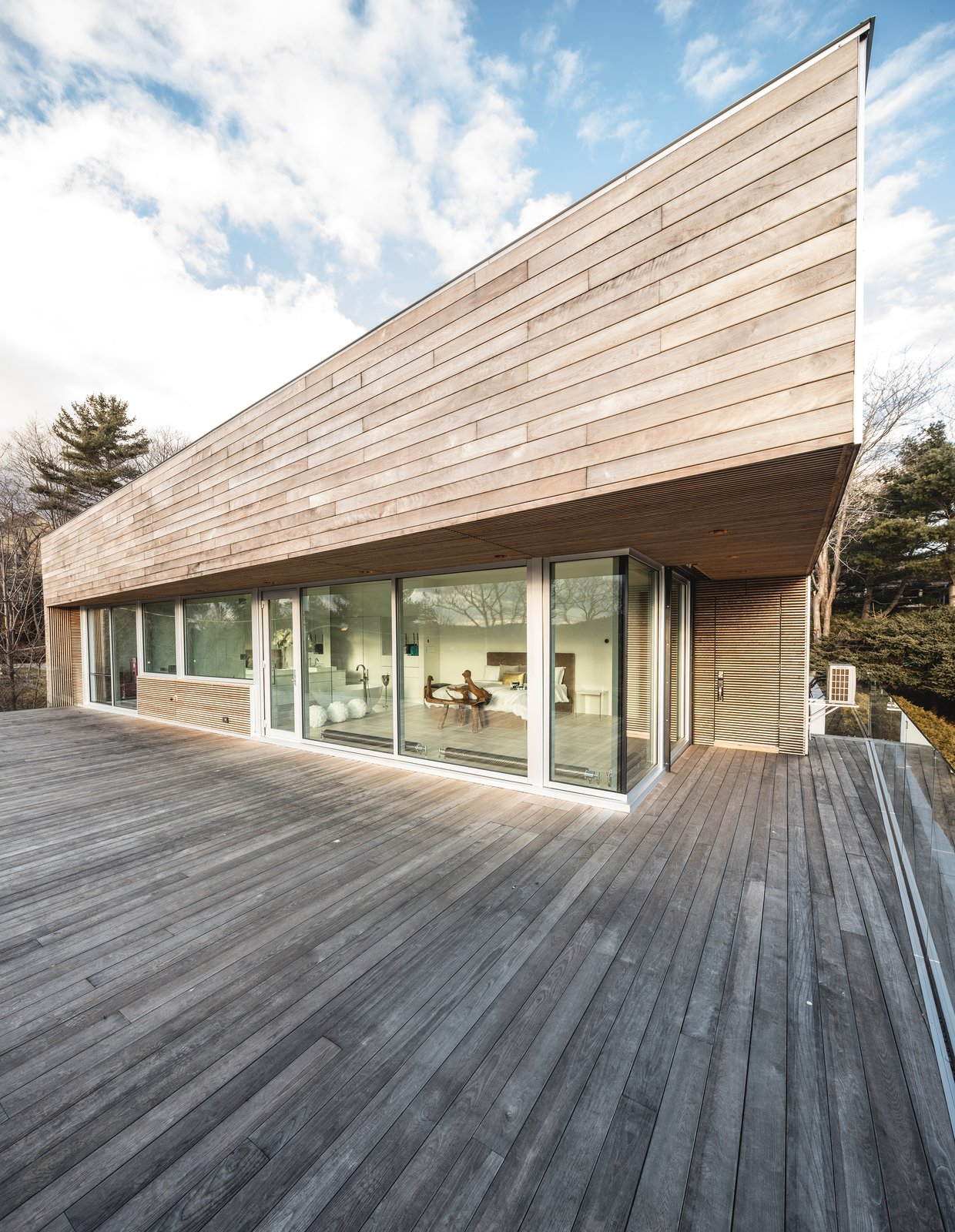 Exterior, House Building Type, Wood Siding Material, and Flat RoofLine Rooftop Patio  Best Photos from Webster Terrace