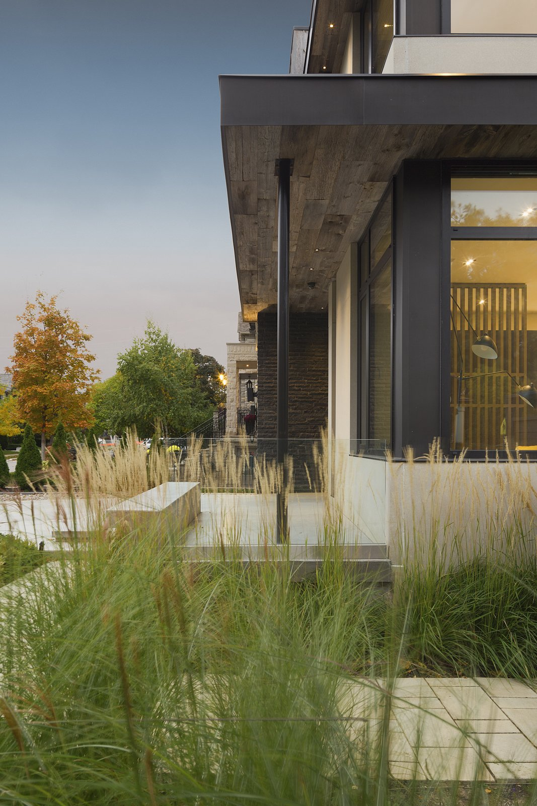 Exterior and House Building Type Entrance with the Front Landscape Design   IN House