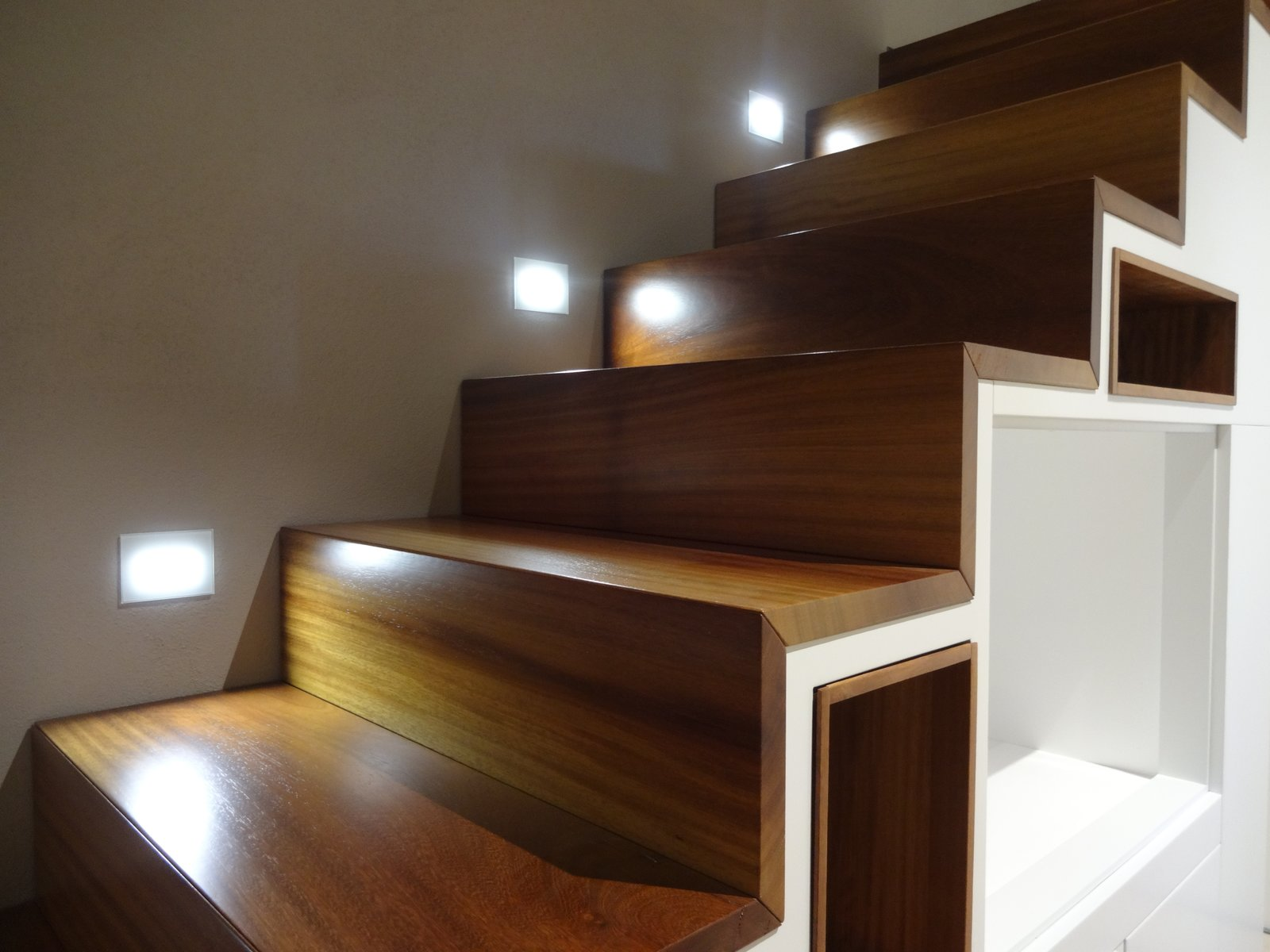 Staircase and Wood Tread master suite, detail of the stairs to cabinet  CAFElab architects turns an old farmhouse into a luxury residence in Rome