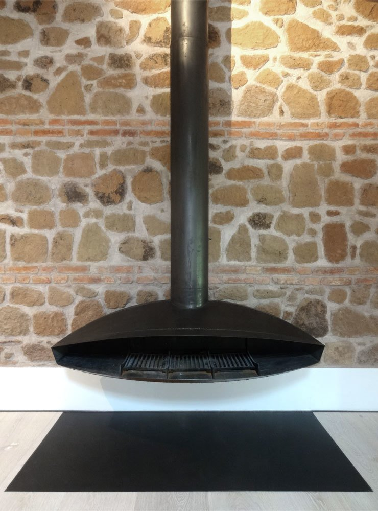 CAFElab suspended fireplace