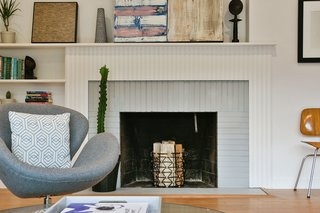 Living Room In A Converted Church Connecticut Modern Fireplace And Mantel Design Incorporates