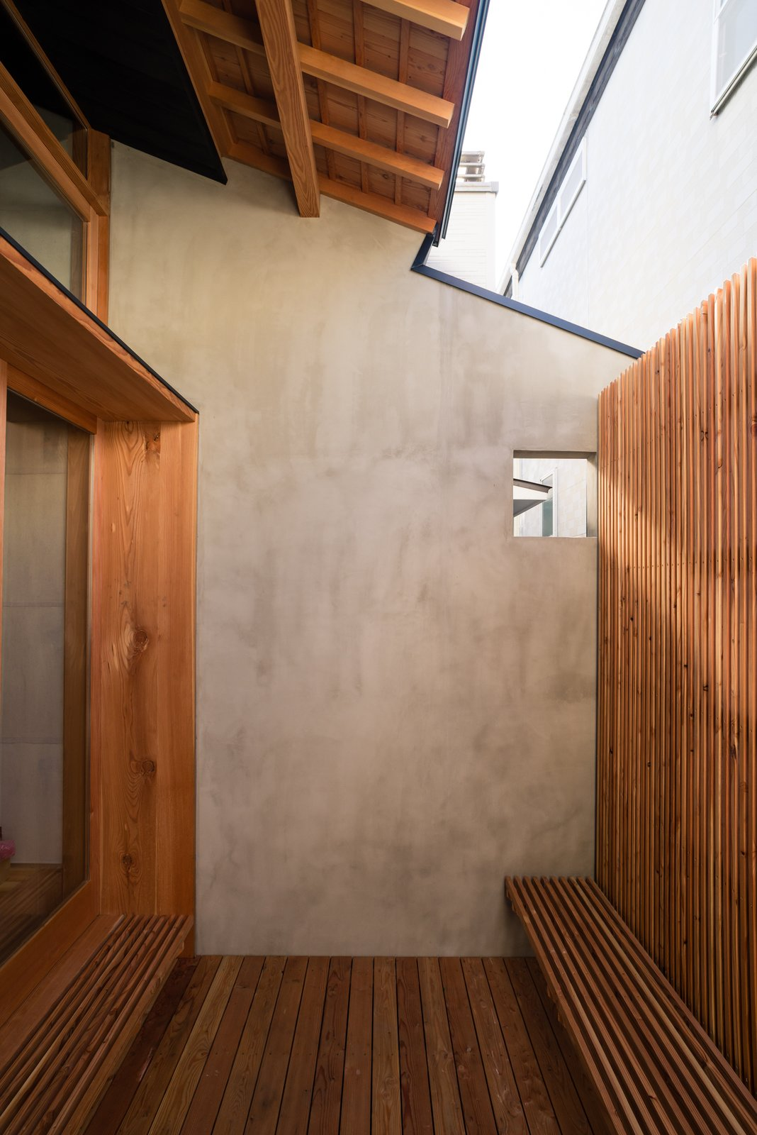 Outdoor, Back Yard, and Small Patio, Porch, Deck New prospect to the outdoors is provided by a screened courtyard.  Ichijoji House by atelier Luke