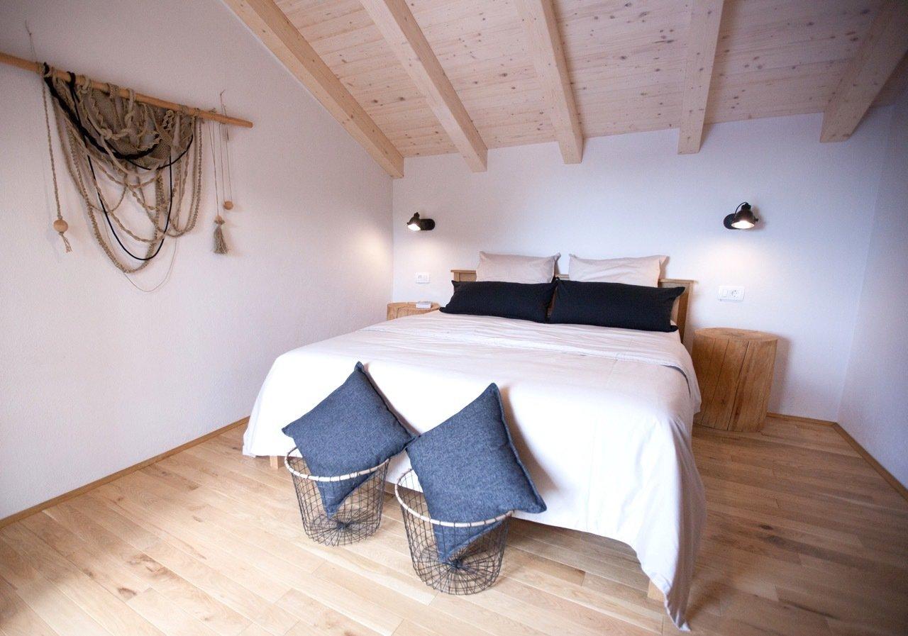 Bedroom, Bed, Wardrobe, Night Stands, Storage, Chair, Floor Lighting, Wall Lighting, and Medium Hardwood Floor Room 2  Villa No24