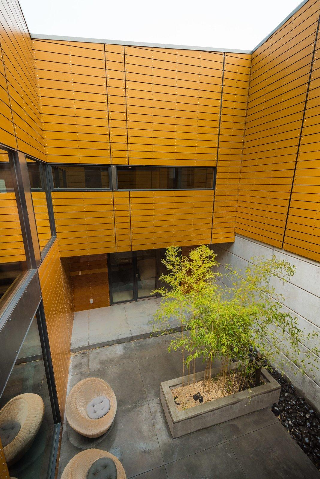 Outdoor, Raised Planters, Hardscapes, and Concrete Patio, Porch, Deck Interior courtyard  High Desert Pavillion
