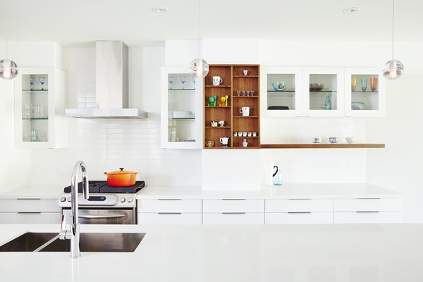 Elevation of kitchen cabinetry