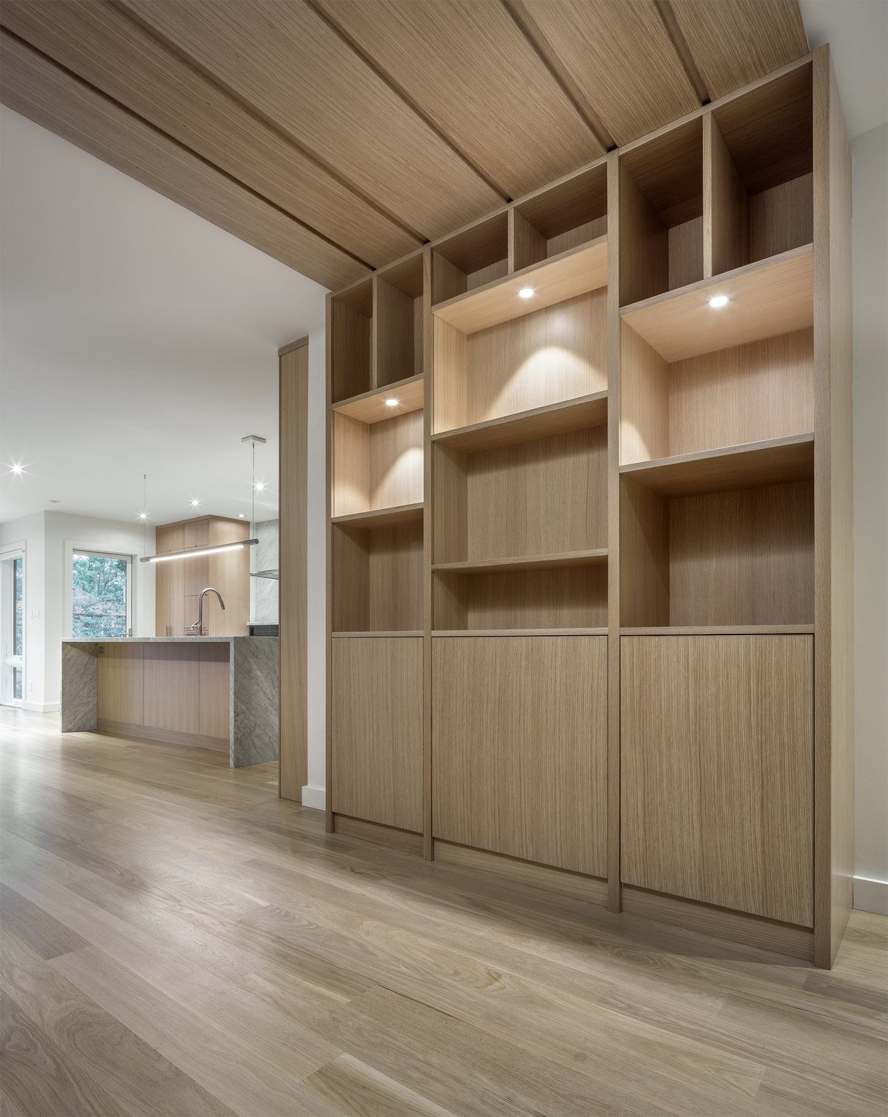 Storage Room and Cabinet Storage Type Display cabinet  North Toronto Addition by Asquith Architecture