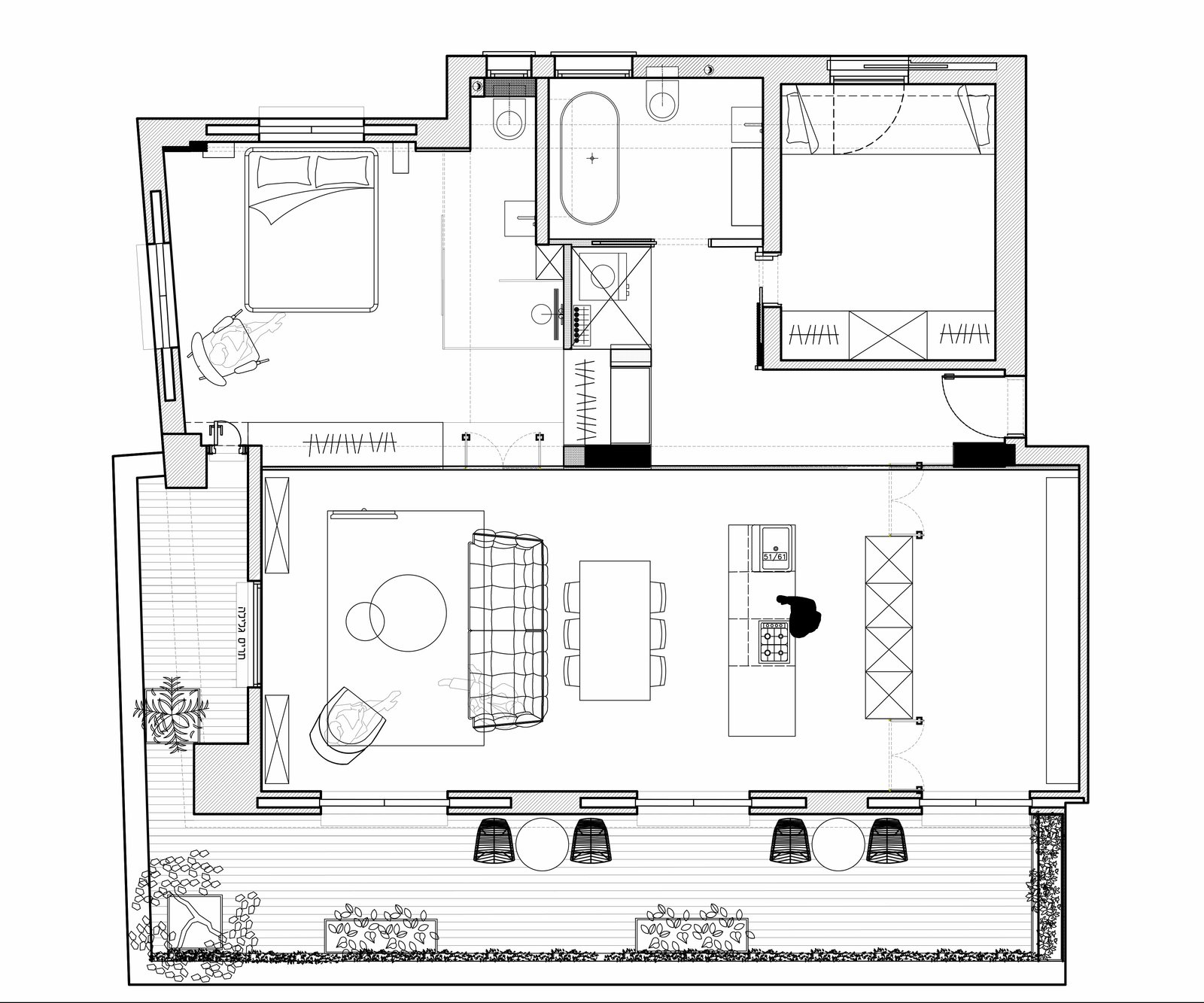 Floor plan  Colorfull in the white city by Lital Ophir I Interior Design