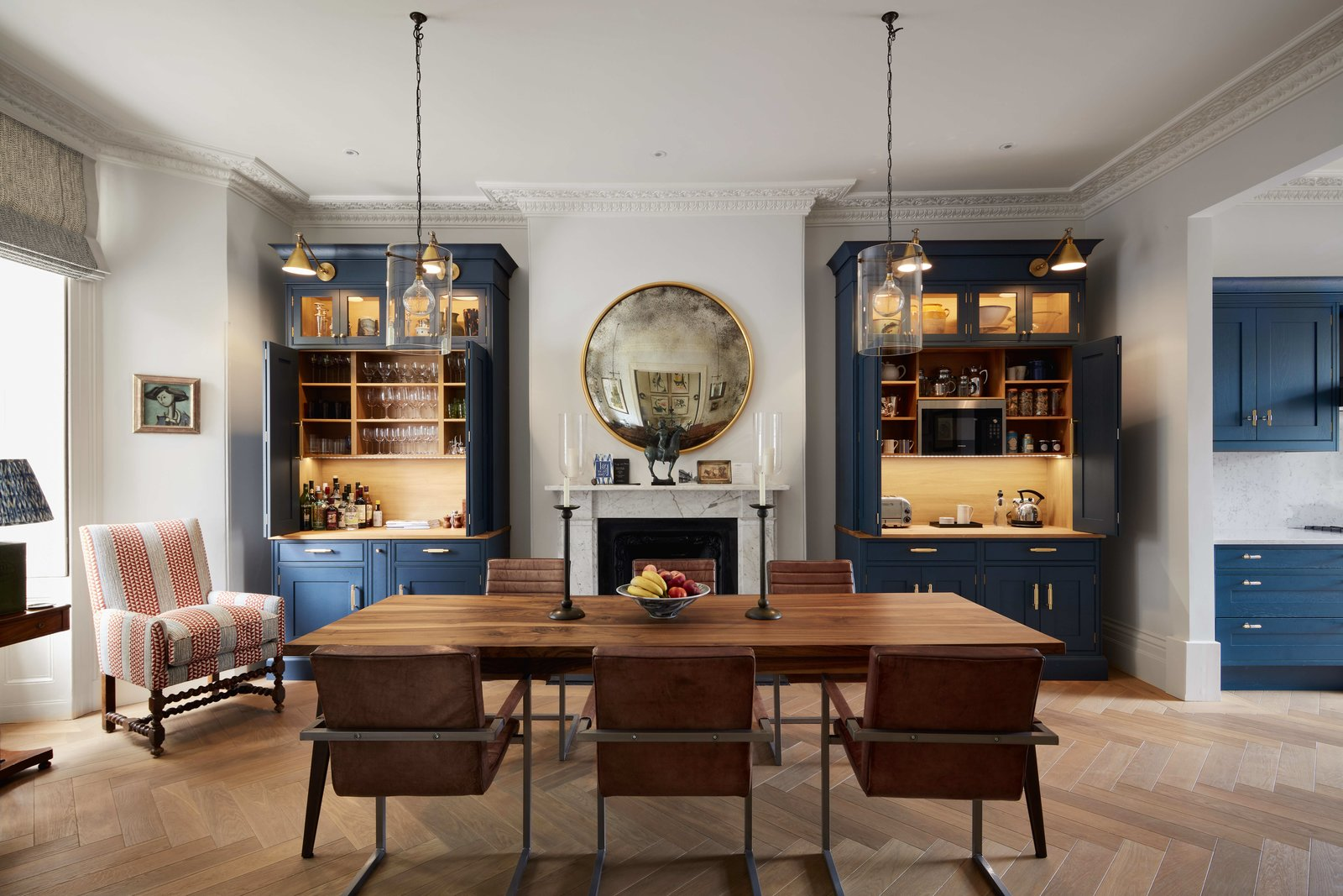 Dining, Chair, Table, Pendant, Wall, Ceiling, Medium Hardwood, and Standard Layout Dining Room and Kitchen - Entrance  Best Dining Medium Hardwood Standard Layout Photos from Art Collectors Home