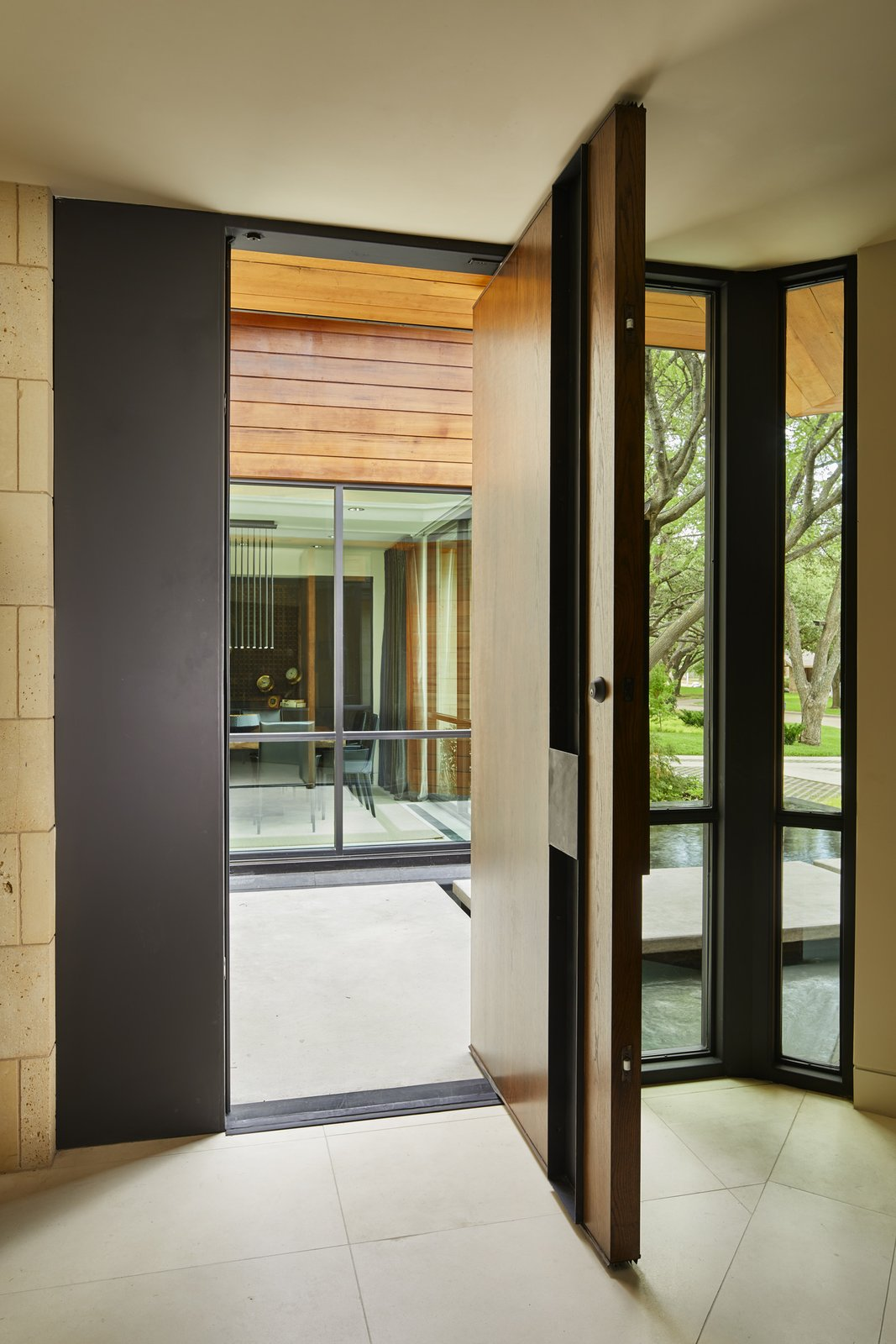 Doors, Interior, Wood, Metal, and Swing Door Type Custom steel and wood front door.  Bent Tree Residence
