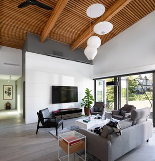The outside is brought in with double-height NLT (nail-laminated timber) ceilings and automated clerestory windows.