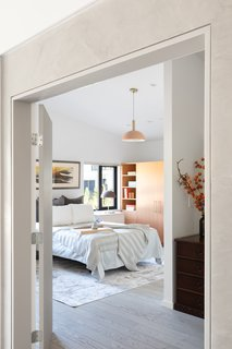 """""""In terms of the interior, there are preferences for where the headboard needs to be and then how that relationship works to the door of the bedroom, so those were things that the clients guided us on,"""" says Shen."""