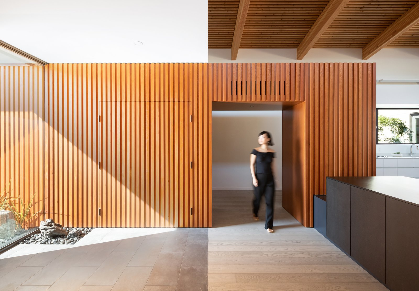 Curio House Douglas fir foyer