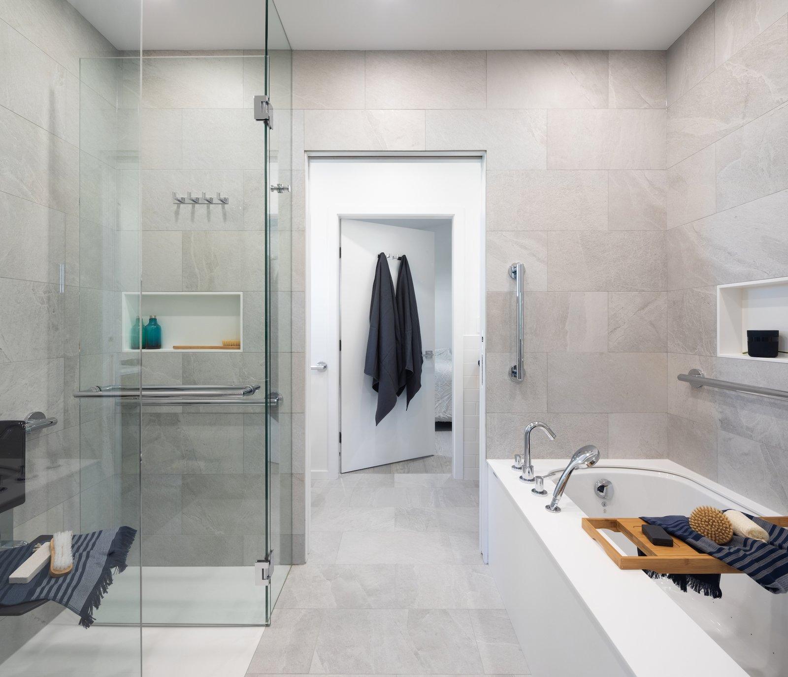 Curio House zero threshold shower