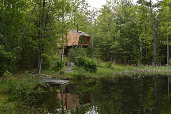 This quaint cabin operates completely off the grid with no internet access.
