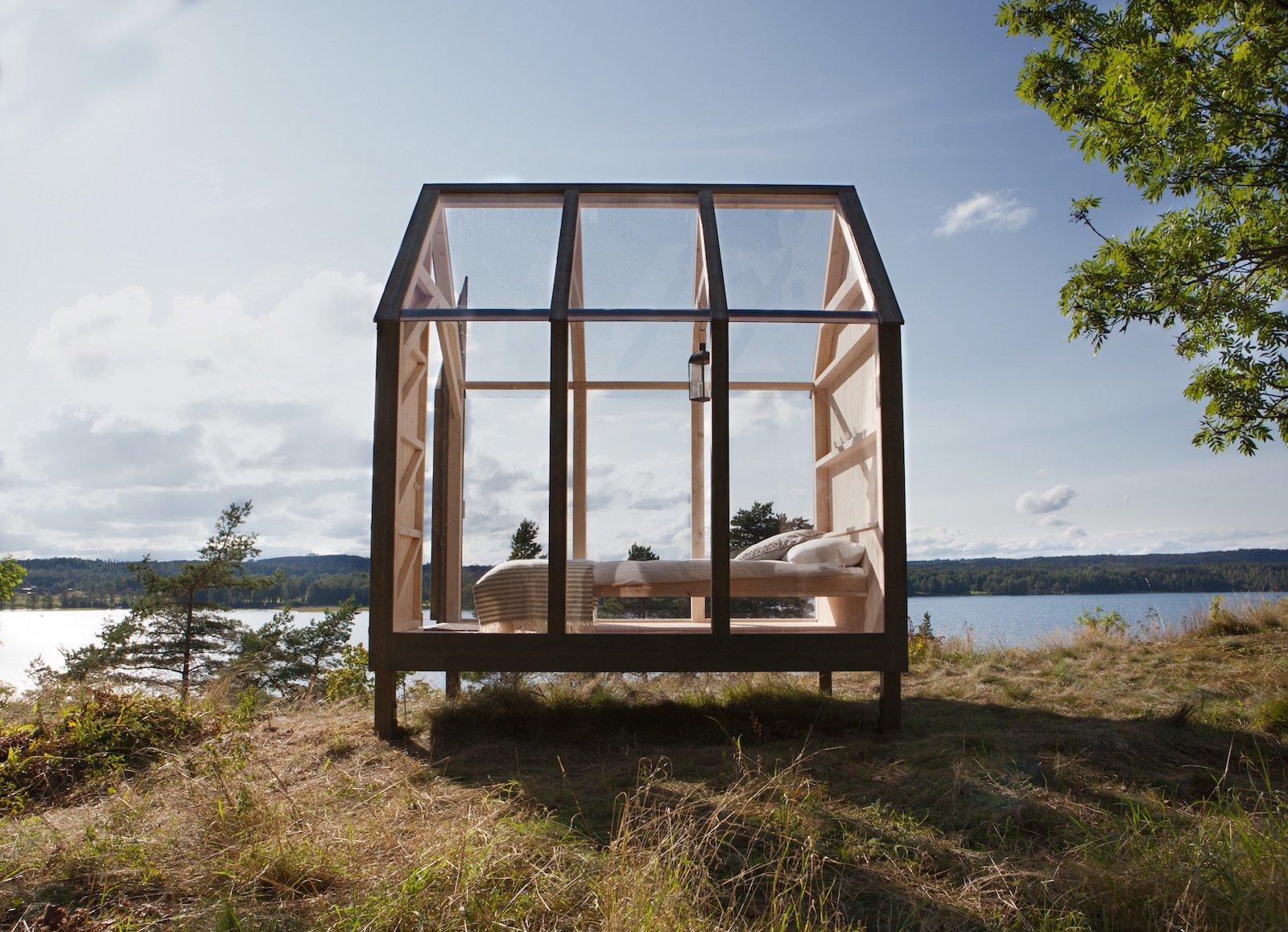 Henriksholm Island cabin exterior
