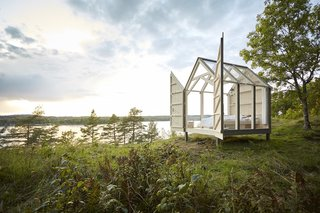 "Five tiny glass cabins on Sweden's Henriksholm Island allow travelers to unplug from the noise of their technology-driven lifestyles. The ""72 Hour Cabins"" are Norwegian spruce structures that offer peace and quiet with minimally furnished yet cozy interiors."
