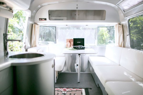 With prices that start at $179 per night, the Airstreams include a mix of vintage and new trailers, all of which are 28 feet long. Caravan Outpost can also be rented out for celebrations or retreats.