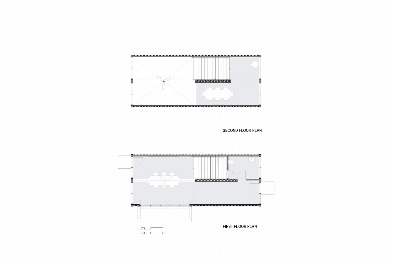 Here are the Bard College Media Lab floor plans.    Photo 12 of 12 in A Shipping Container Prefab Lab Is Built in Only 4 Hours