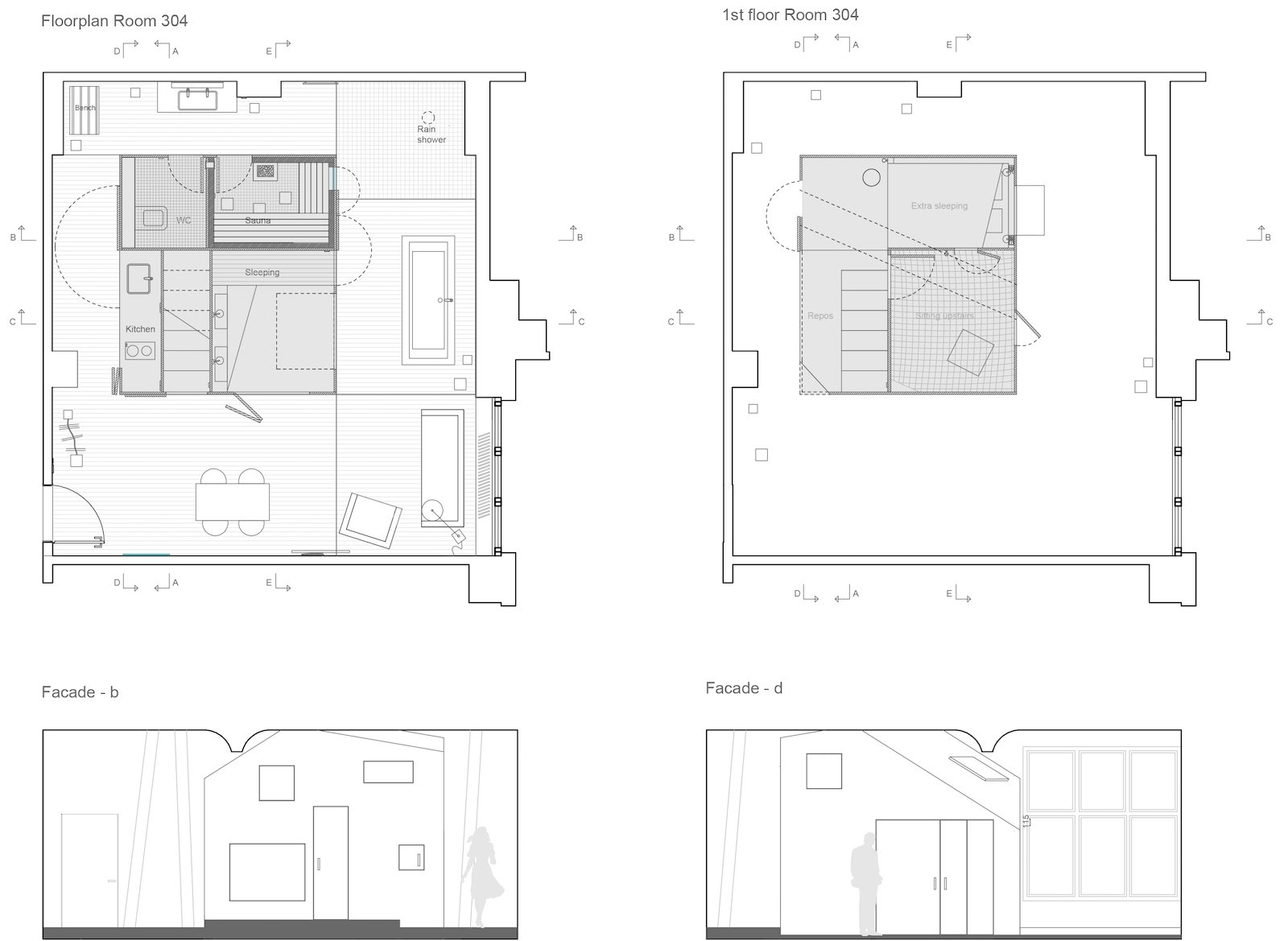 The Garden Room floor plans.  Michelberger Hotel from Stoke Your Imagination With This Playhouse-Like Suite in Berlin