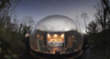 Modern home with Exterior and Dome RoofLine. While transparent domes have sprung up in glamping destinations worldwide, Finn Lough sets itself apart from the pack with extra touches of luxury. Photo  of Enchanting Bubble Domes in the Irish Woods